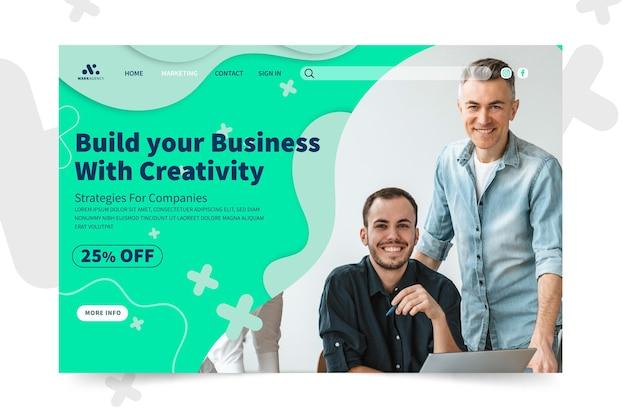 Modelo de página de destino comercial de marketing