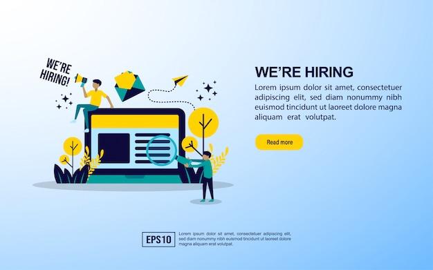 Modelo de página de destino. contratação de emprego