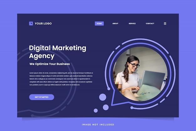 Modelo de página de destino da agência de marketing digital