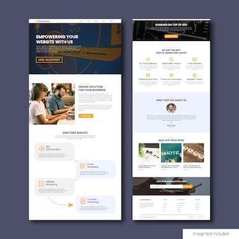 Modelo de página de destino da agência de marketing