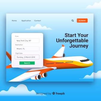 Modelo de página de destino da agência de viagens