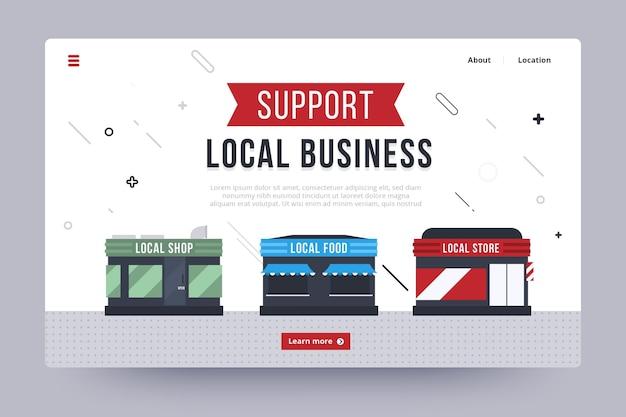 Modelo de página de destino da empresa local