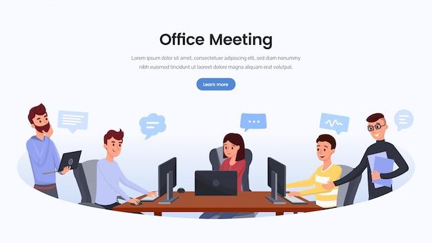 Modelo de página de destino da equipe de desenvolvimento de negócios