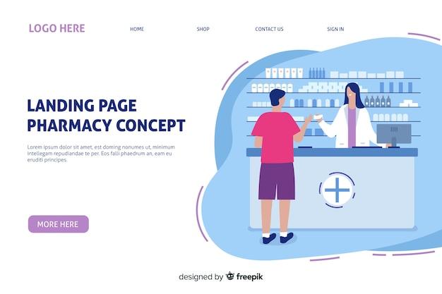 Modelo de página de destino da farmácia on-line