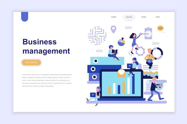 Modelo de página de destino da gestão de negócios