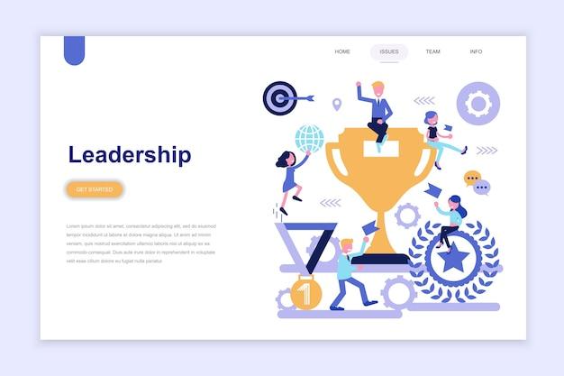 Modelo de página de destino da liderança empresarial