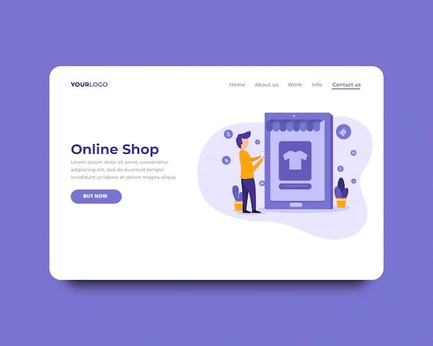 Modelo de página de destino da loja on-line