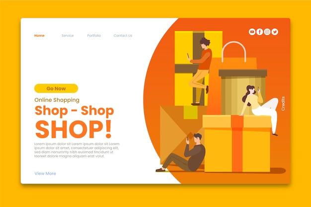 Modelo de página de destino da loja online