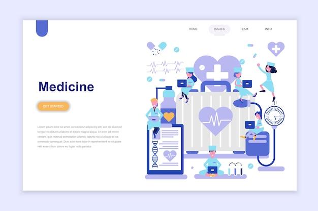 Modelo de página de destino da medicina