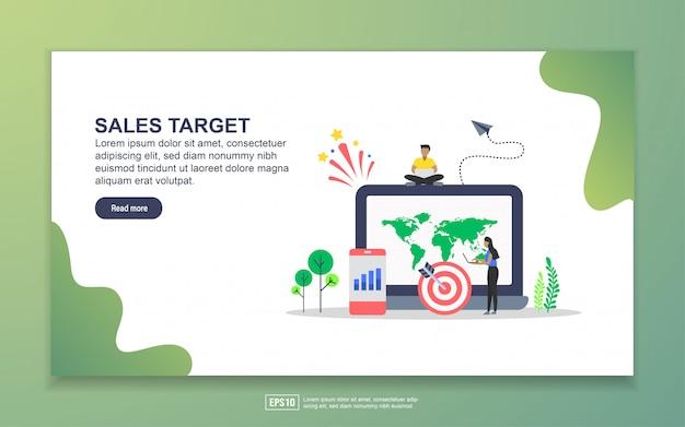 Modelo de página de destino da meta de vendas