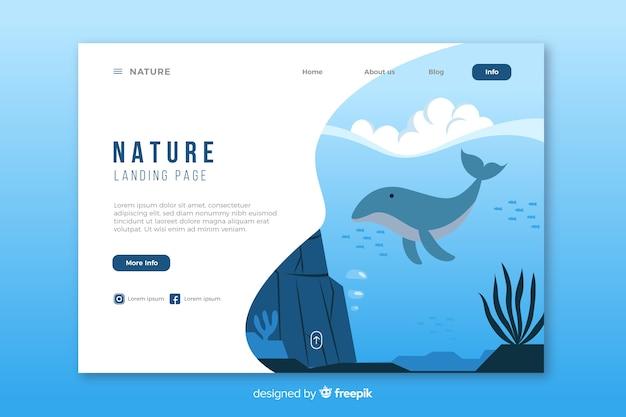 Modelo de página de destino da natureza criativa