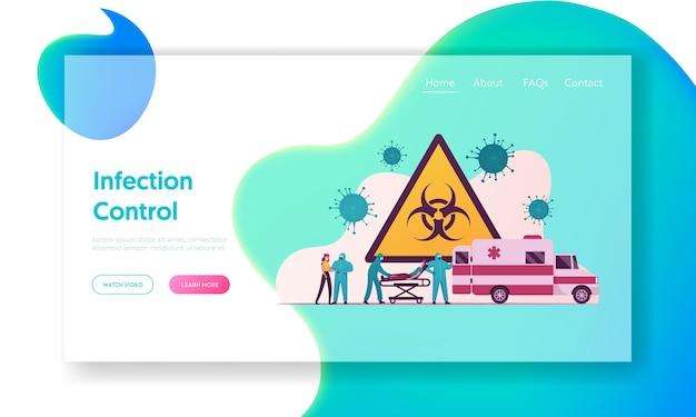 Modelo de página de destino da pandemia de coronavírus