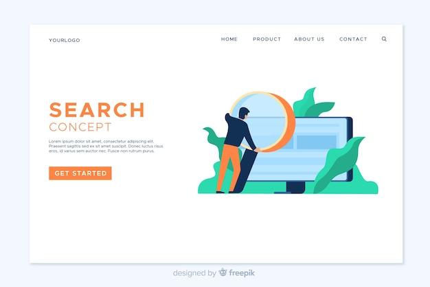 Modelo de página de destino da pesquisa simples