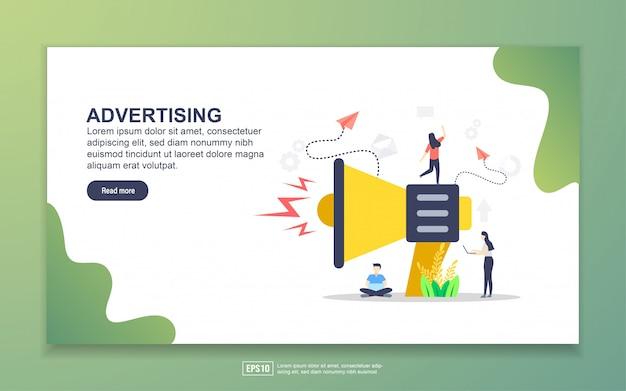 Modelo de página de destino da publicidade