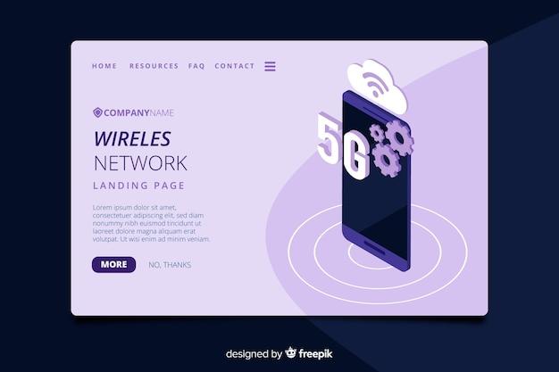 Modelo de página de destino da rede sem fio