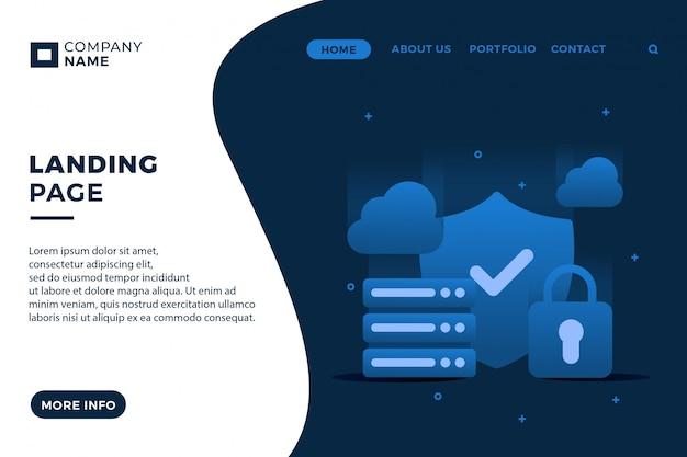 Modelo de página de destino da tecnologia