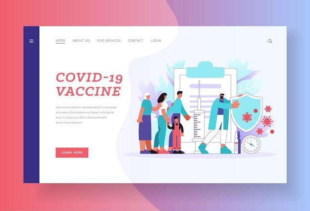 Modelo de página de destino da vacina covid-19