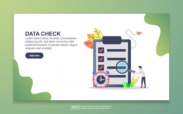Modelo de página de destino da verificação de dados