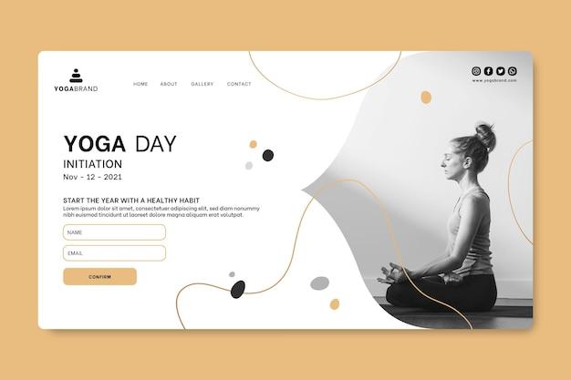 Modelo de página de destino da web de ioga