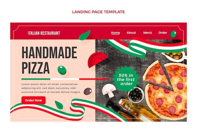 Modelo de página de destino de alimentos planos