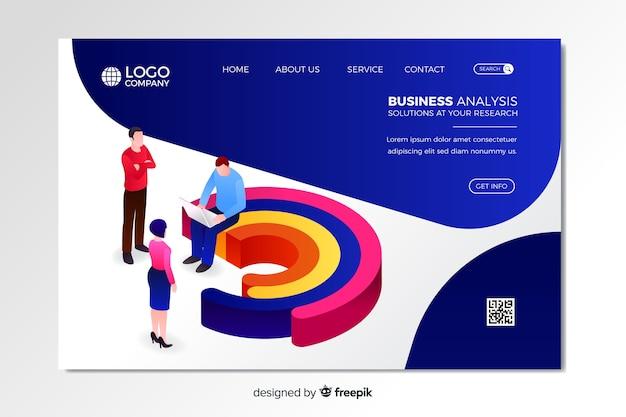 Modelo de página de destino de análise de negócios