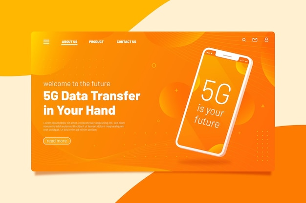 Modelo de página de destino de apresentação em smartphone