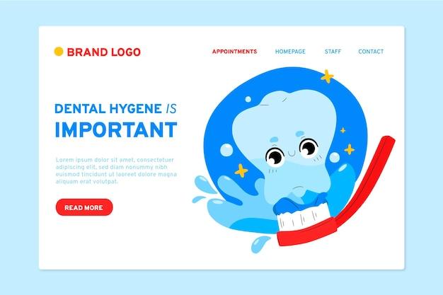 Modelo de página de destino de atendimento odontológico