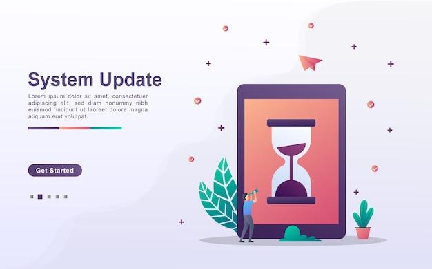 Modelo de página de destino de atualização do sistema