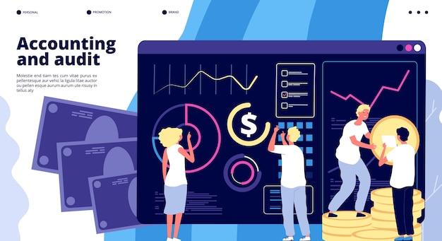 Modelo de página de destino de auditoria e contabilidade