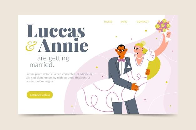 Modelo de página de destino de casamento