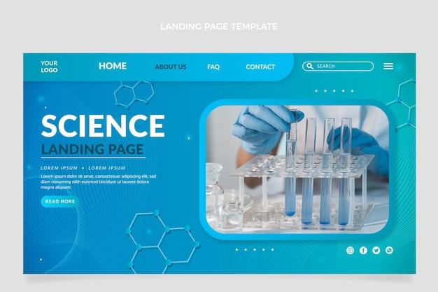 Modelo de página de destino de ciência gradiente