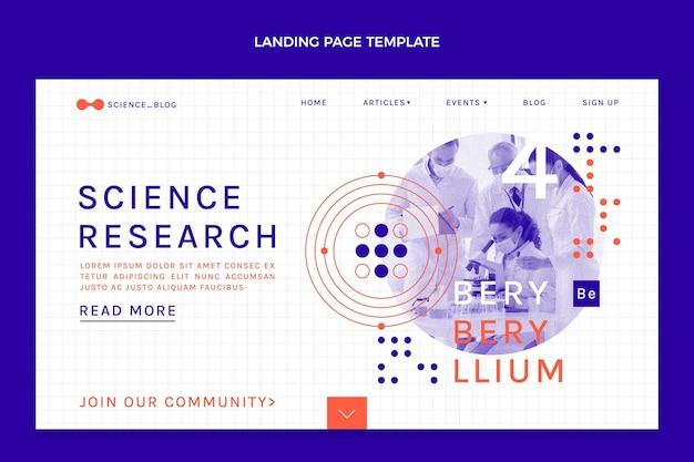 Modelo de página de destino de ciência plana