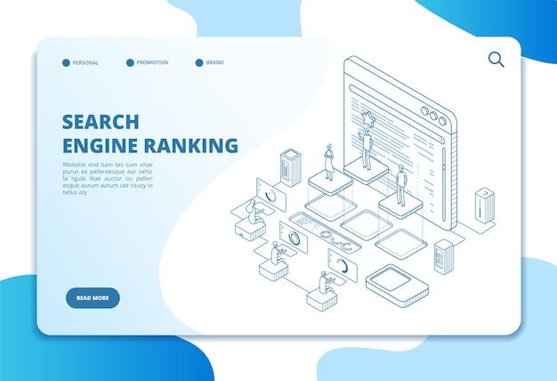 Modelo de página de destino de classificação do mecanismo de pesquisa