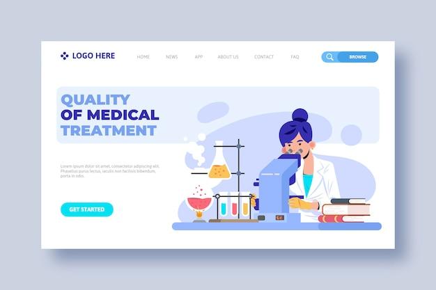 Modelo de página de destino de clínica de saúde
