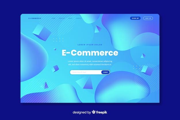 Modelo de página de destino de comércio on-line