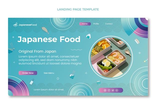 Modelo de página de destino de comida desenhado à mão