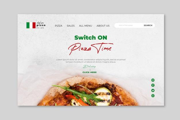 Modelo de página de destino de comida italiana Vetor grátis
