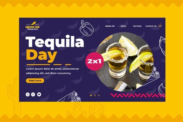 Modelo de página de destino de comida mexicana Vetor grátis