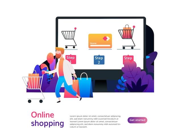 Modelo de página de destino de compras on-line.