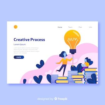 Modelo de página de destino de conceito de processo criativo
