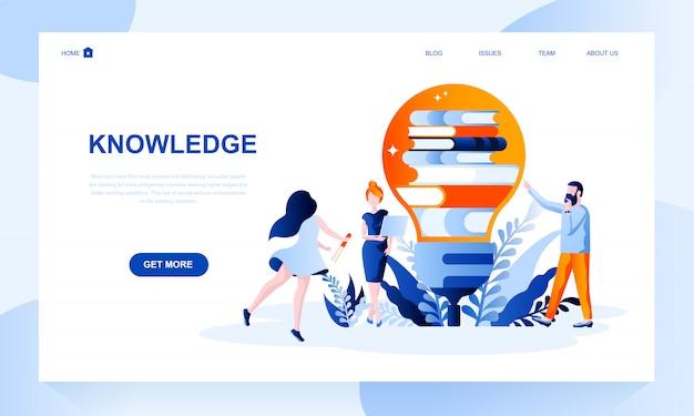 Modelo de página de destino de conhecimento com cabeçalho