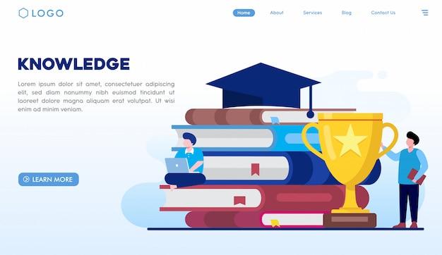 Modelo de página de destino de conhecimento