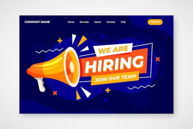Modelo de página de destino de contratação de criativo