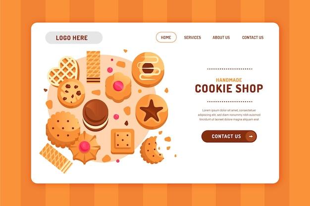 Modelo de página de destino de cookies