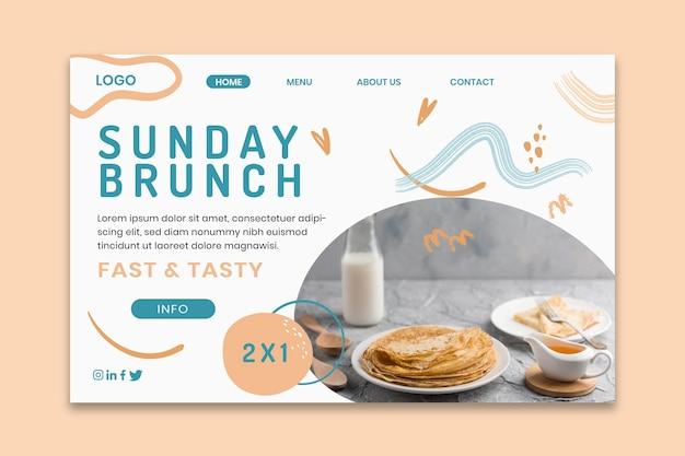Modelo de página de destino de delicioso brunch