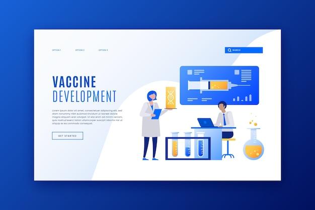 Modelo de página de destino de desenvolvimento de vacina