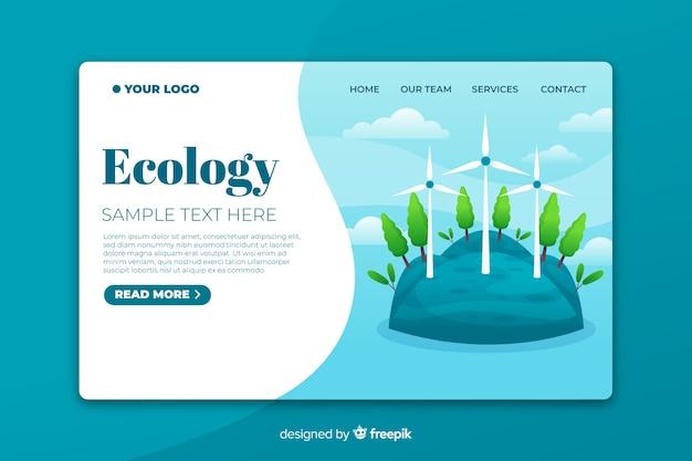 Modelo de página de destino de ecologia