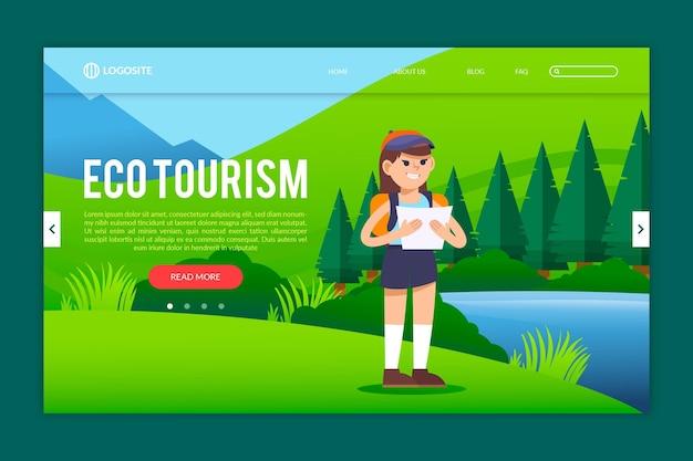 Modelo de página de destino de ecoturismo