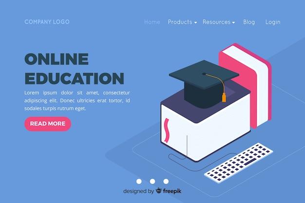 Modelo de página de destino de educação on-line