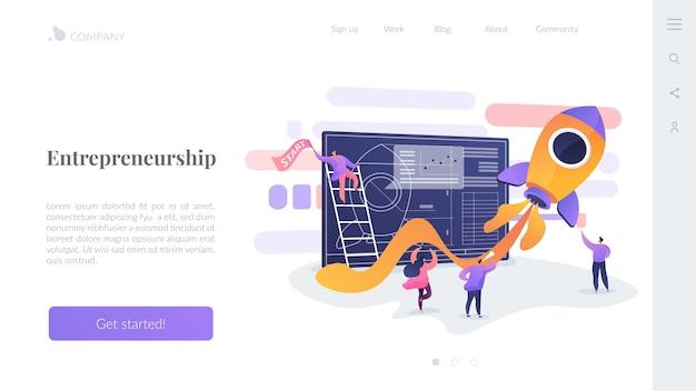 Modelo de página de destino de empreendedorismo